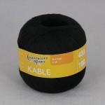 Пряжа для вязания Семеновская фабрика Kable (Кабле) Цвет 1 черный