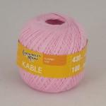 Пряжа для вязания Семеновская фабрика Kable (Кабле) Цвет 20 розовый