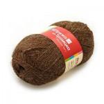 Пряжа для вязания Троицкая фабрика Деревенька Цвет 3656 темно-коричневый