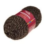 Пряжа для вязания Троицкая фабрика Деревенька Цвет 5071 мулине (коричневый/натуральный)