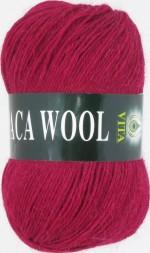 Пряжа для вязания Vita Alpaca Wool Цвет 2957 темно-красный