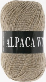 Пряжа для вязания Vita Alpaca Wool Цвет 2977 бежевый меланж