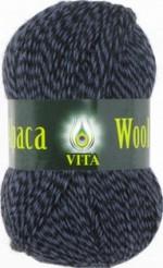Пряжа для вязания Vita Alpaca Wool Цвет 2989 черно-синий меланж