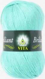 Пряжа для вязания Vita Brilliant (Вита Бриллиант) Цвет 4992 светлая зеленая бирюза