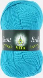 Пряжа для вязания Vita Brilliant (Вита Бриллиант) Цвет 4993 голубая бирюза