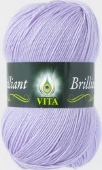 Пряжа для вязания Vita Brilliant (Вита Бриллиант) Цвет 4994 светло-сиреневый