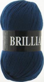 Пряжа для вязания Vita Brilliant (Вита Бриллиант) Цвет 4955 джинсовый