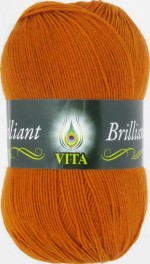Пряжа для вязания Vita Brilliant (Вита Бриллиант) Цвет 4998 терракот