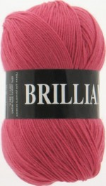 Пряжа для вязания Vita Brilliant (Вита Бриллиант) Цвет 4960 темно-красный коралл