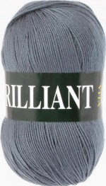 Пряжа для вязания Vita Brilliant (Вита Бриллиант) Цвет 4980 серый