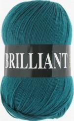 Пряжа для вязания Vita Brilliant (Вита Бриллиант) Цвет 4981 темная зеленая бирюза