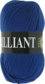 Пряжа для вязания Vita Brilliant (Вита Бриллиант) Цвет 4989 синий сапфир