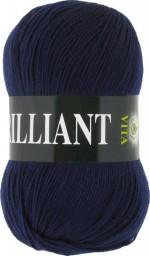 Пряжа для вязания Vita Brilliant (Вита Бриллиант) Цвет 4990 темно-синий