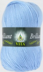 Пряжа для вязания Vita Brilliant (Вита Бриллиант) Цвет 4967 светло-голубой