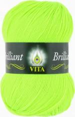 Пряжа для вязания Vita Brilliant (Вита Бриллиант) Цвет 5103 ультра-салатовый