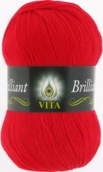 Пряжа для вязания Vita Brilliant (Вита Бриллиант) Цвет 5107 алый