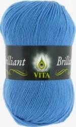 Пряжа для вязания Vita Brilliant (Вита Бриллиант) Цвет 5113 яркий голубой