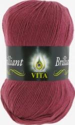Пряжа для вязания Vita Brilliant (Вита Бриллиант) Цвет 5114 розовый виноград