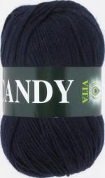 Пряжа для вязания Vita Candy Цвет 2502 темно-синий