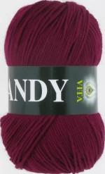 Пряжа для вязания Vita Candy (Вита Канди) Цвет 2508 бордовый