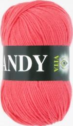 Пряжа для вязания Vita Candy Цвет 2520 коралл