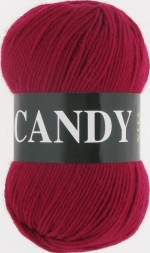 Пряжа для вязания Vita Candy Цвет 2536 красная ягода