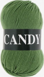 Пряжа для вязания Vita Candy Цвет 2538 зеленый