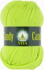 Пряжа для вязания Vita Candy Цвет 2542 молодая зелень