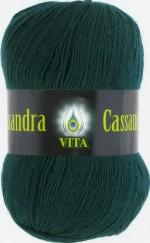 Пряжа для вязания Vita Cassandra (Вита Кассандра) Цвет 3605 темно-зеленый