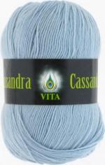 Пряжа для вязания Vita Cassandra (Вита Кассандра) Цвет 3609 голубой