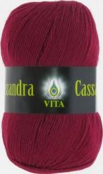 Пряжа для вязания Vita Cassandra (Вита Кассандра) Цвет 3614 вишня