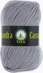 Пряжа для вязания Vita Cassandra (Вита Кассандра) Цвет 3619 серый