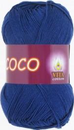 Пряжа для вязания Vita Cotton Coco Цвет 3857 темно-синий