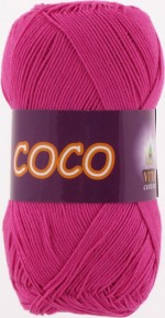 Пряжа для вязания Vita Cotton Coco Цвет 3885 фуксия