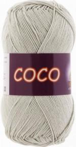 Пряжа для вязания Vita Cotton Coco Цвет 3887 светло-серый