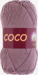 Пряжа для вязания Vita Cotton Coco (Вита Коко) Цвет 4307 пыльная роза