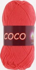Пряжа для вязания Vita Cotton Coco (Вита Коко) Цвет 4308 розовый коралл