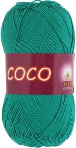 Пряжа для вязания Vita Cotton Coco Цвет 4310 зеленая бирюза