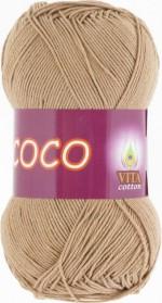 Пряжа для вязания Vita Cotton Coco (Вита Коко) Цвет 4312 теплый бежевый