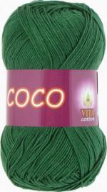 Пряжа для вязания Vita Cotton Coco Цвет 4313 зеленый