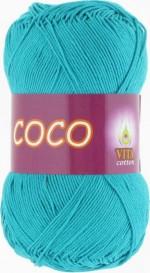 Пряжа для вязания Vita Cotton Coco Цвет 4315 темная голубая бирюза