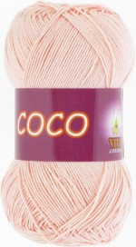 Пряжа для вязания Vita Cotton Coco Цвет 4317 розовая пудра
