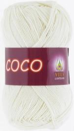 Пряжа для вязания Vita Cotton Coco Цвет 3853 молочный