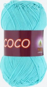 Vita Cotton Coco Цвет 3867 светлая зеленая бирюза