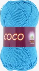 Пряжа для вязания Vita Cotton Coco Цвет 3878 голубая бирюза