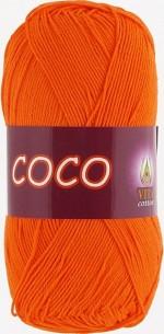 Пряжа для вязания Vita Cotton Coco Цвет 4305 морковный
