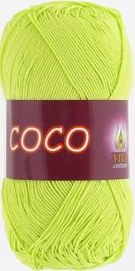 Пряжа для вязания Vita Cotton Coco Цвет 4309 салатовый