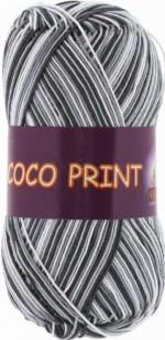 Vita Cotton Coco Print Цвет 4667 бело-серый меланж