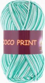 Vita Cotton Coco Print Цвет 4675 зеленая бирюза меланж
