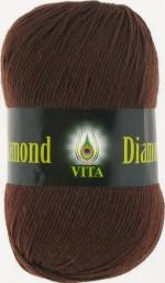 Пряжа для вязания Vita Diamond (Вита Даймонд) Цвет 2304 коричневый